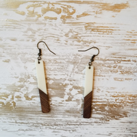 Wood and Resin Matchstick Earrings - Avery + Emory Designs