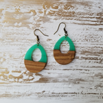 Wood and Resin Teardrop Earrings - Avery + Emory Designs