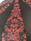 UMBRELLA Bat Damask Red And Black