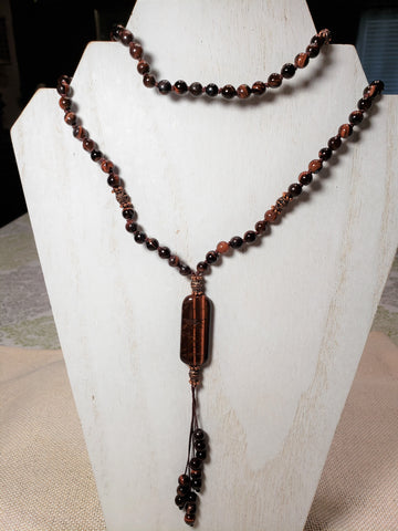 Hand Knotted Red Tiger Eye Mala