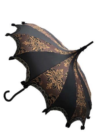 UMBRELLA Brown and Gold Damask