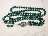 Hand Knotted Malachite Mala