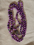 Hand Knotted Purple Quarzite Mala