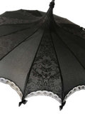 Bat Damask Black and Black UMBRELLA