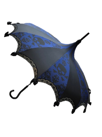 UMBRELLA Skull Damask Blue