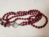 Blood Red Claret Agate Mala