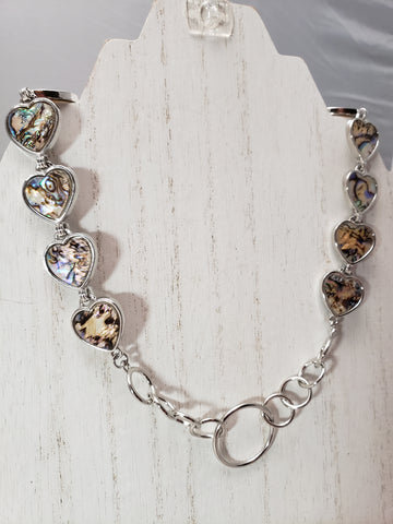 Heart Shaped Shell Collar w/ O ring