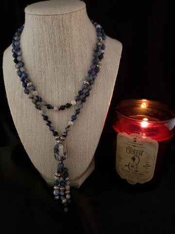 Hand Knotted Sodalite Mala