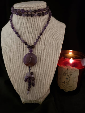 Amethyst Hand Knotted Mala