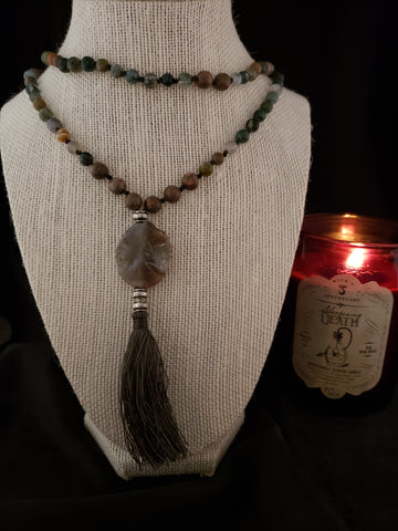 Hand Knotted Fancy Jasper Mala
