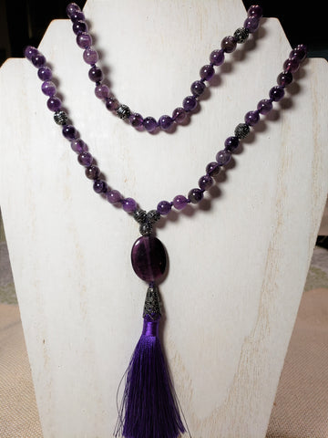 Hand Knotted Amethyst Mala