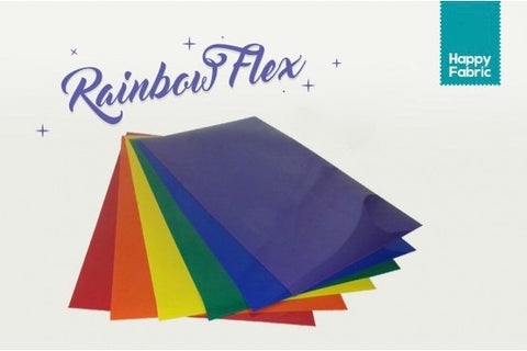 rainbow flex happy fabric