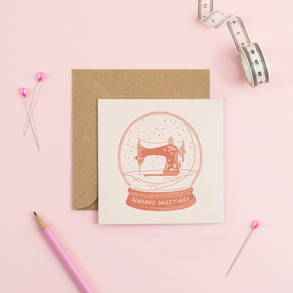 let it sew - sewing christmas card by pink coat club