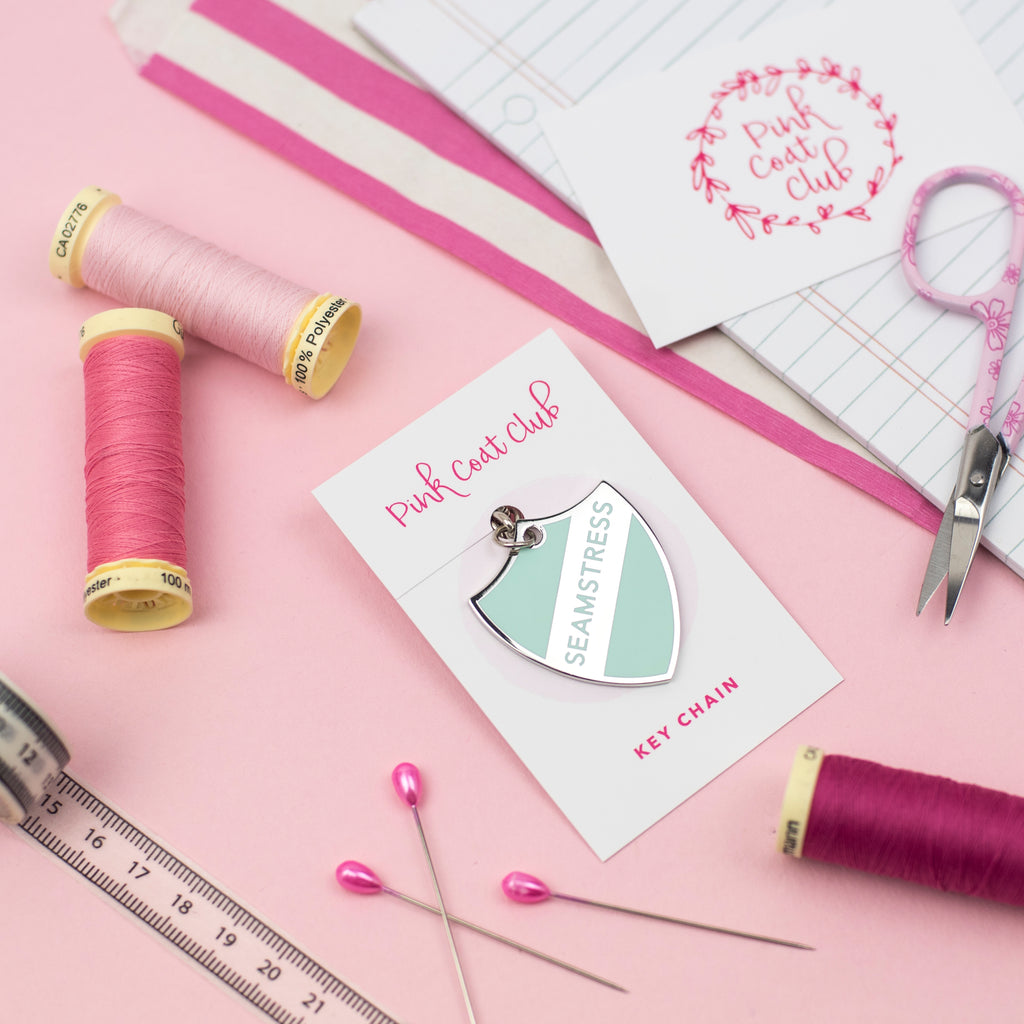 SECONDS: Seamstress key chain (mint) - Pink Coat Club