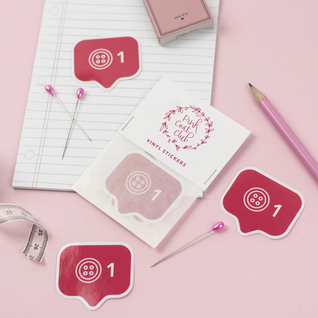 Like Button stickers x 3 - Pink Coat Club