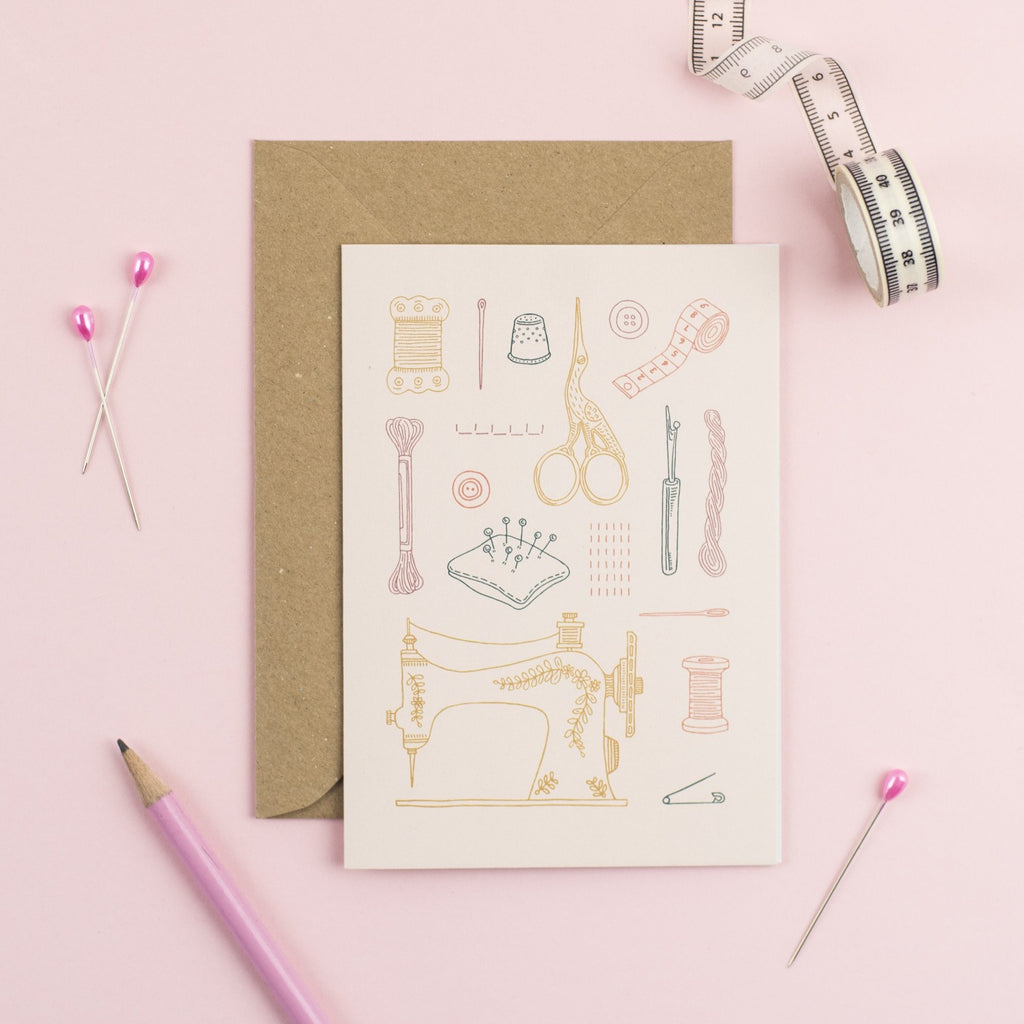 Notions of a Dressmaker card by Pink Coat Club