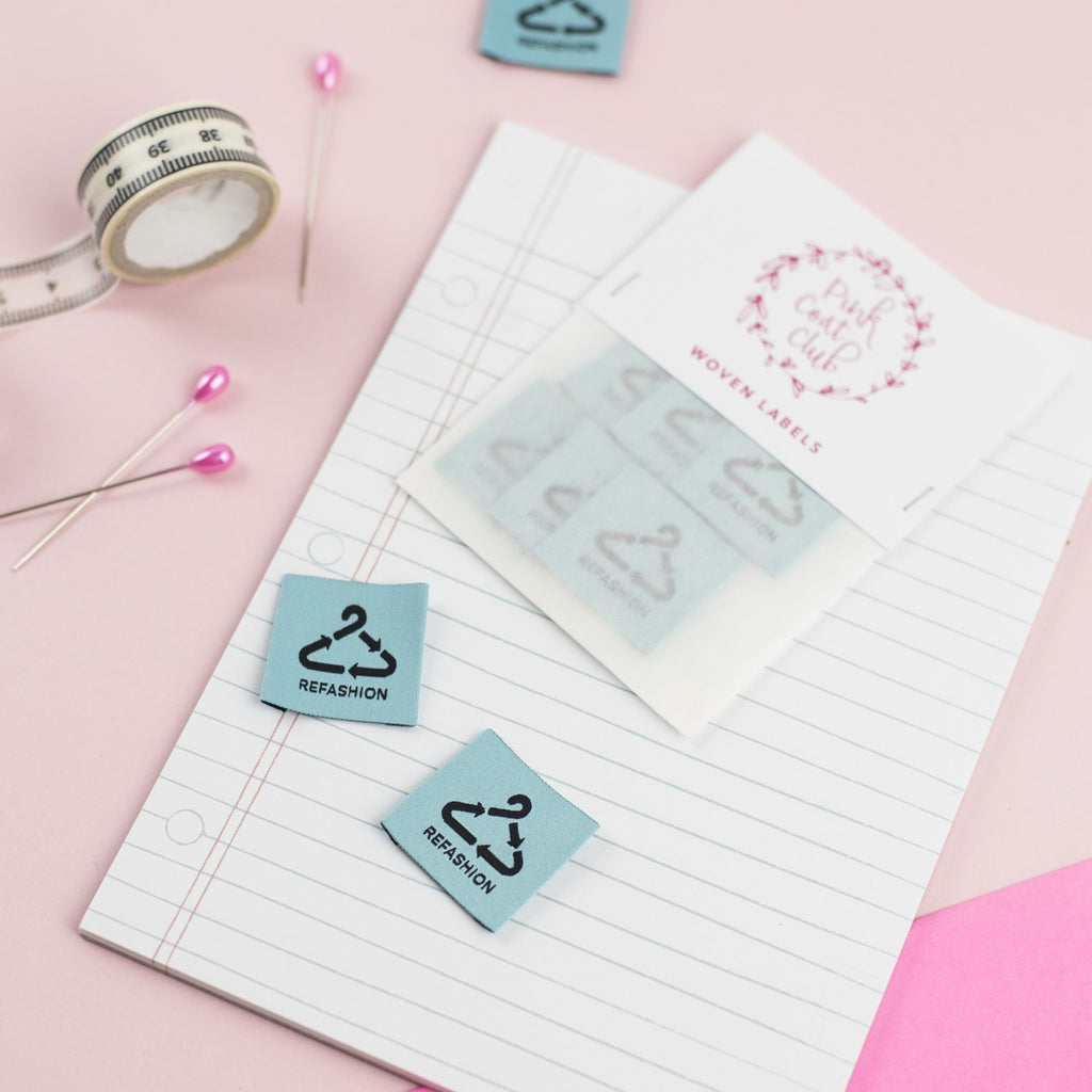 Refashion sewing labels by Pink Coat Club