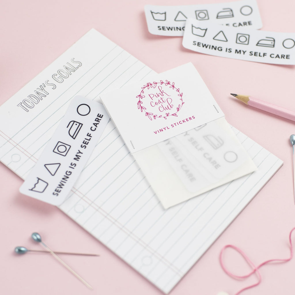 sewing is my self care sticker by pink coat club