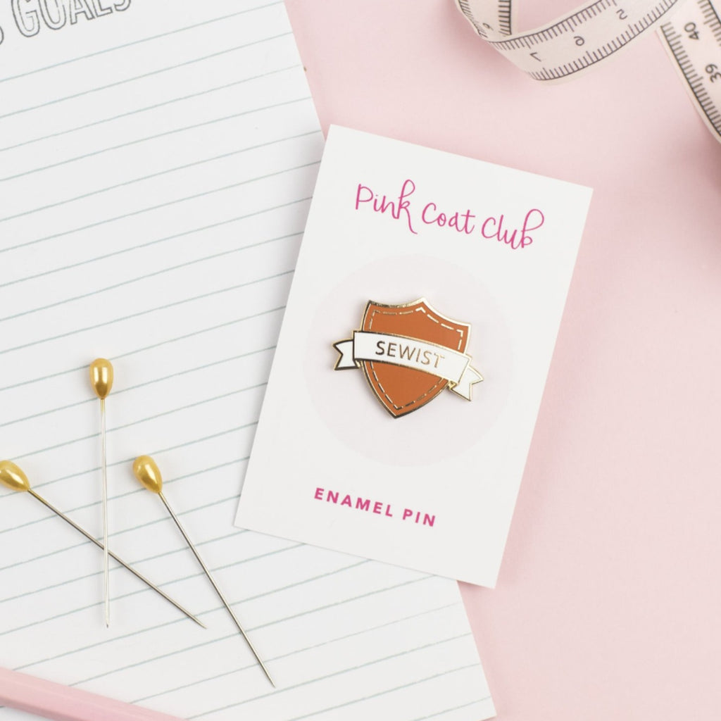 sewist pin in rust by pink coat club