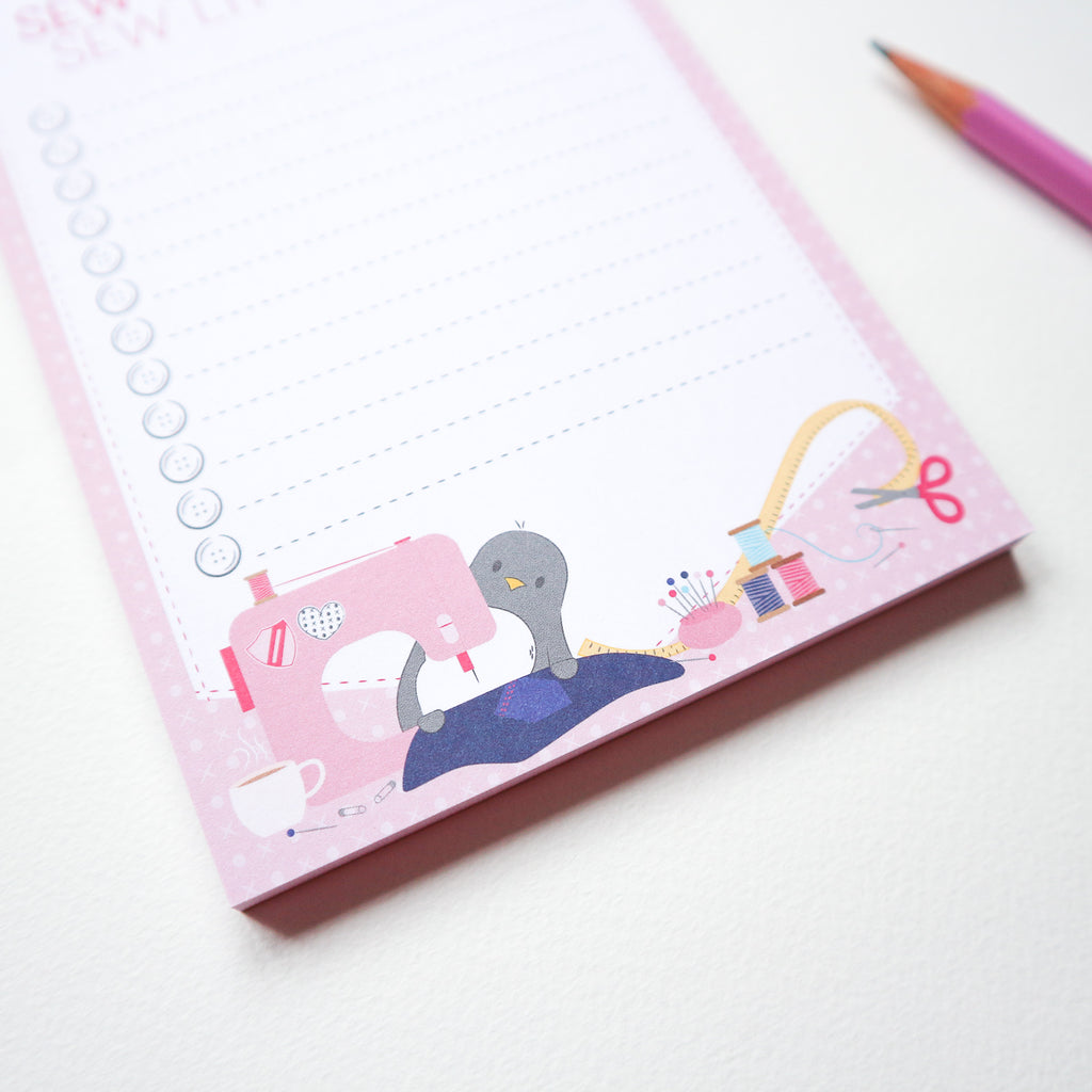 Sew Much To Do Notepad - Pink (Sian x PCC)