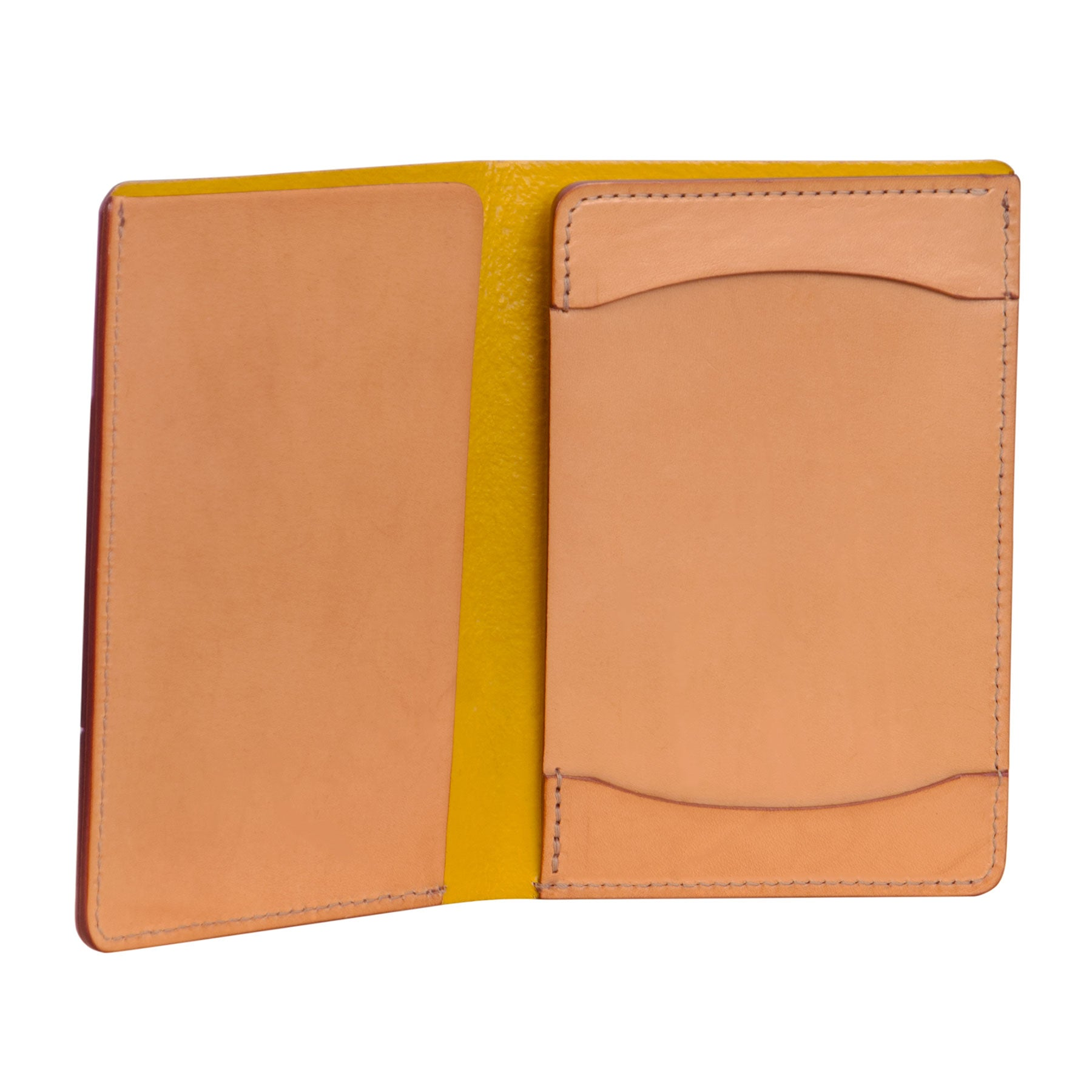 Passport Wallet with Memo Jotter: Hand-Burnished Leather