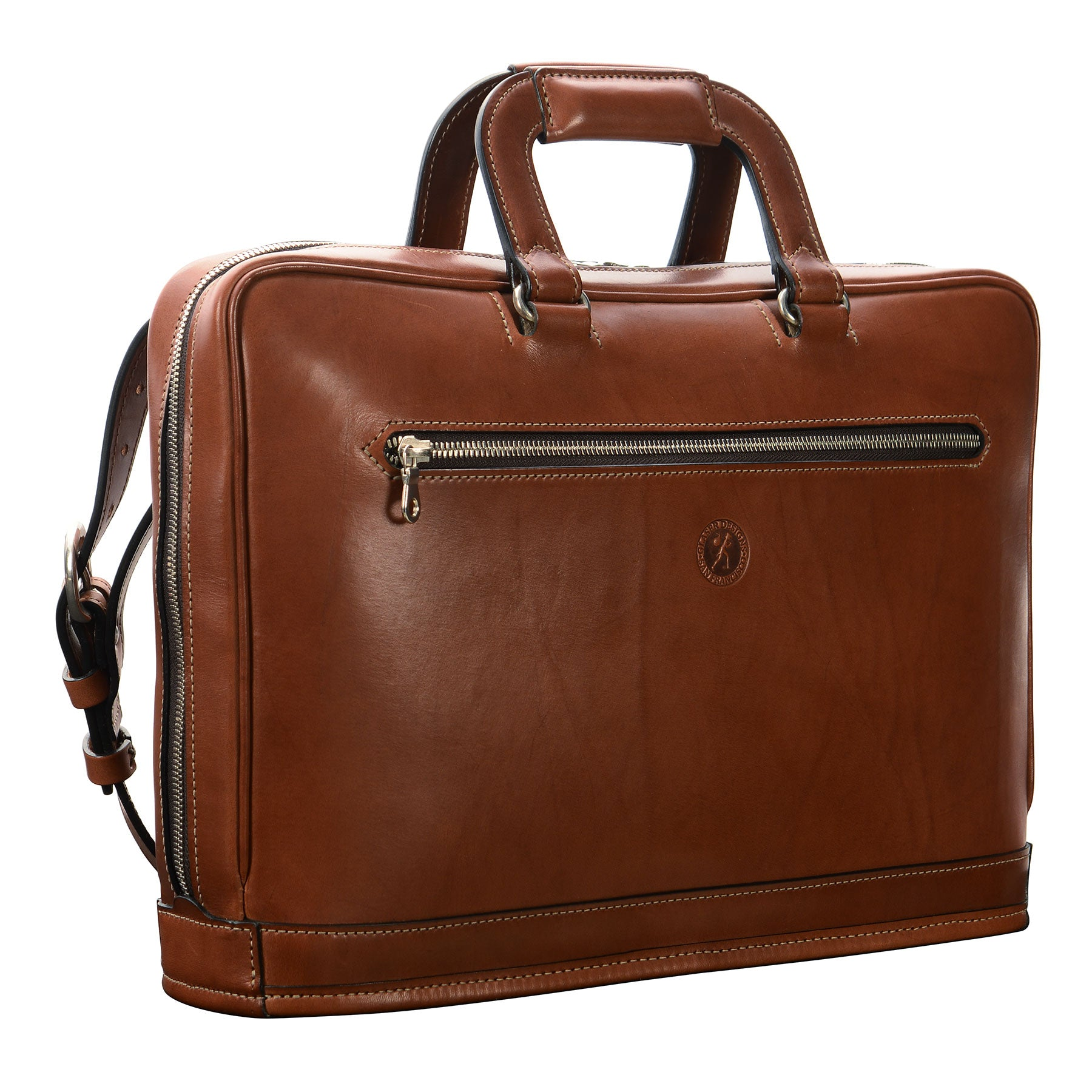 Platform Portfolio: hand-burnished leather