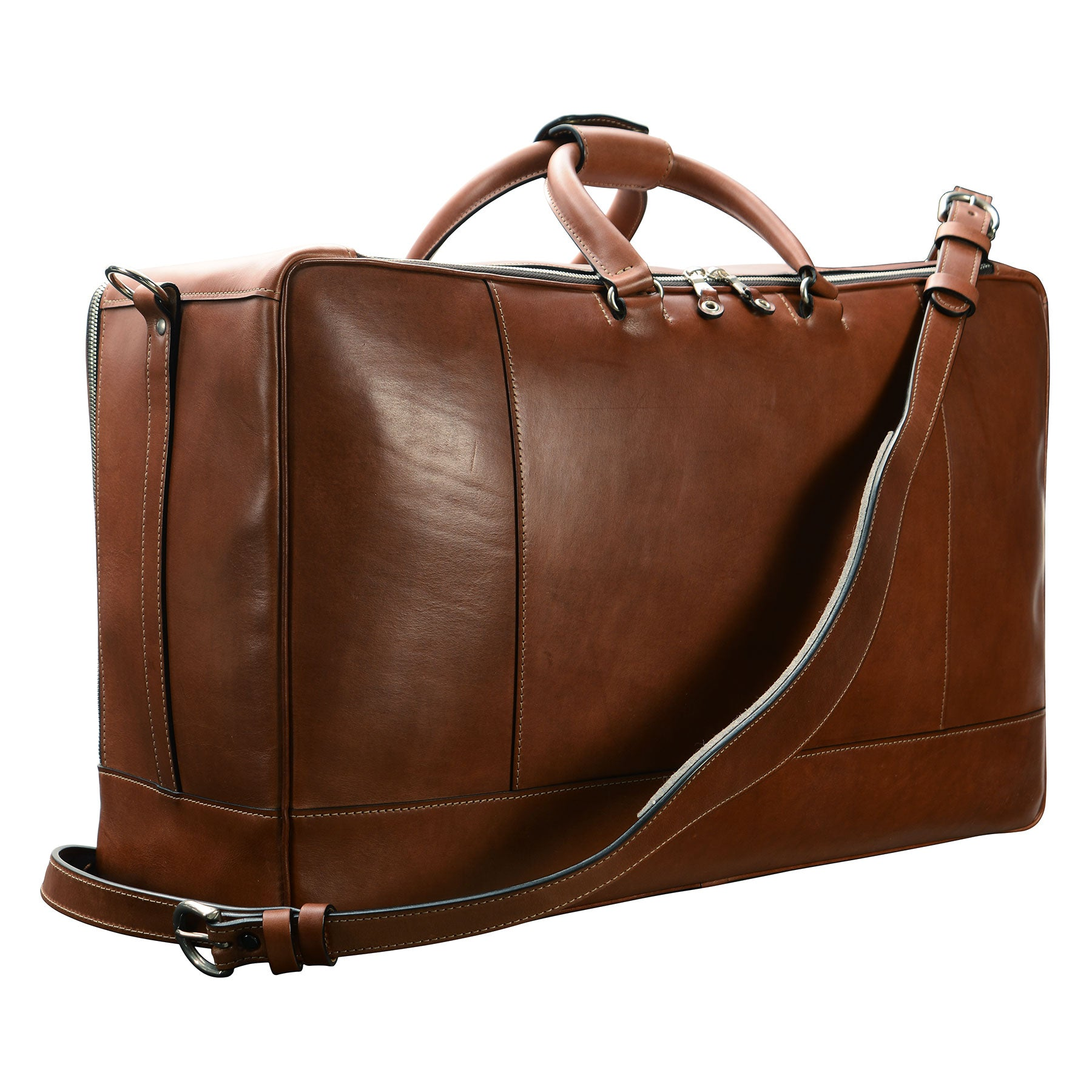 Square Duffel: Hand-Burnished Leather