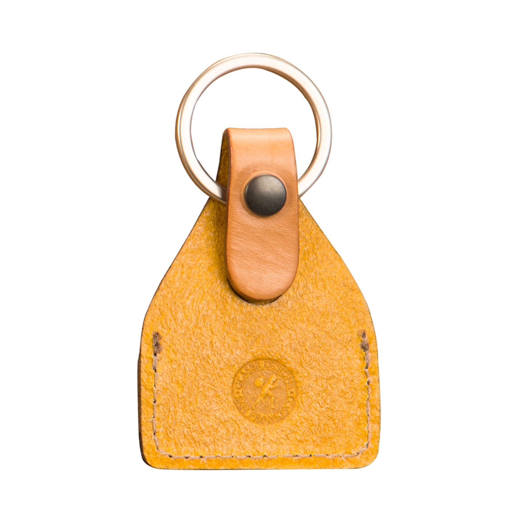 Key Fobs: hand-burnished leather