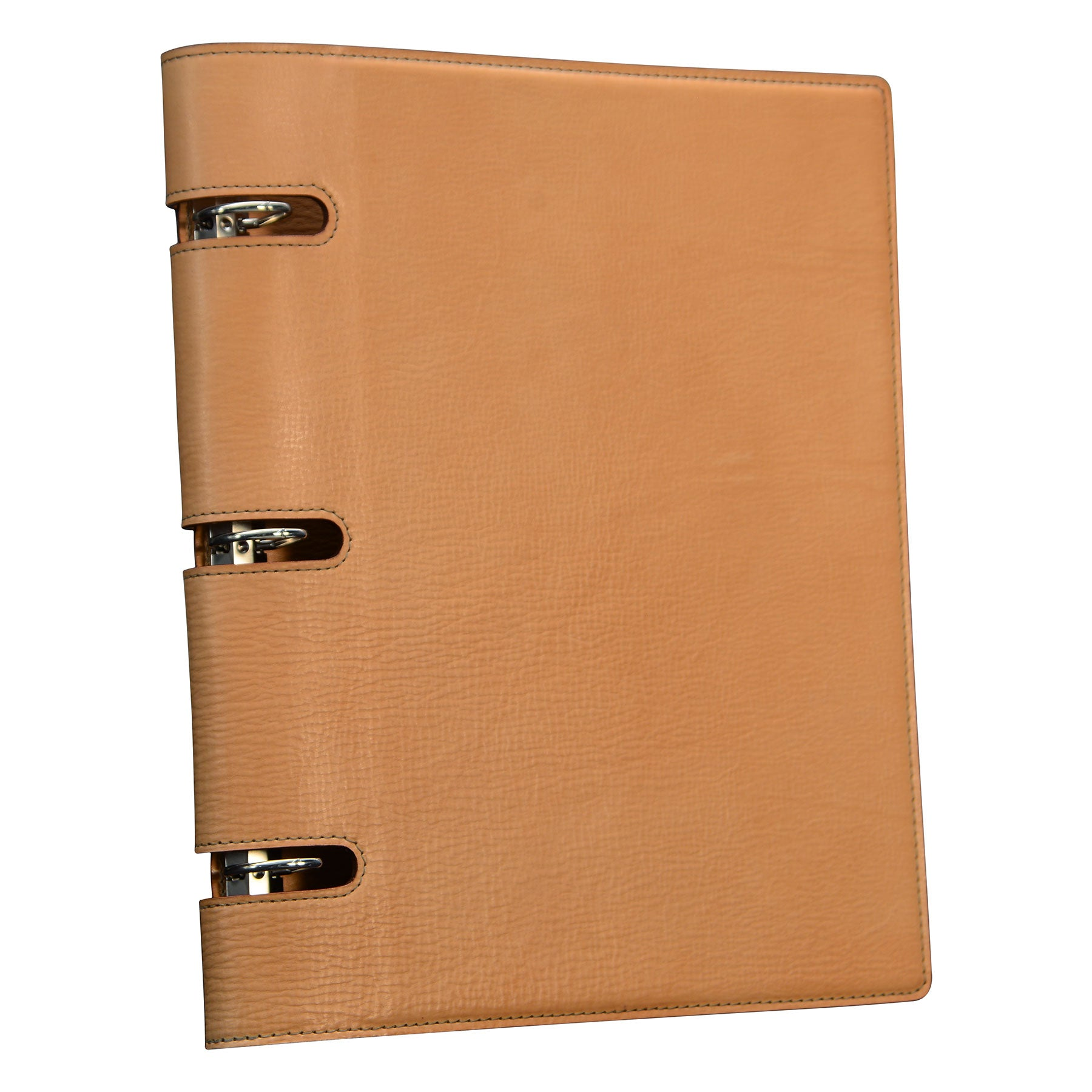 Three Ring Presentation Binder: Hand-Burnished Leather