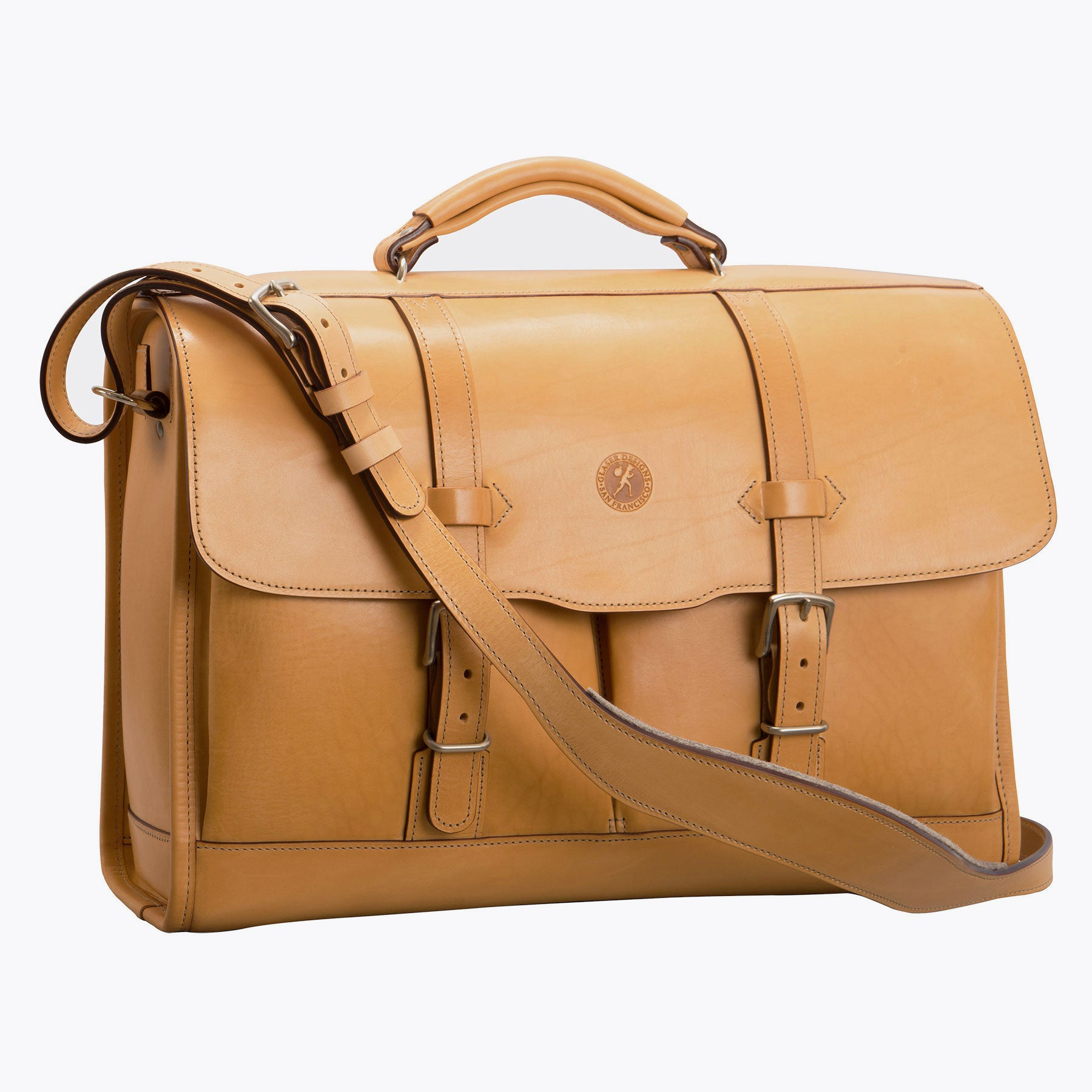 Flaptop Bag: Hand-Burnished Leather
