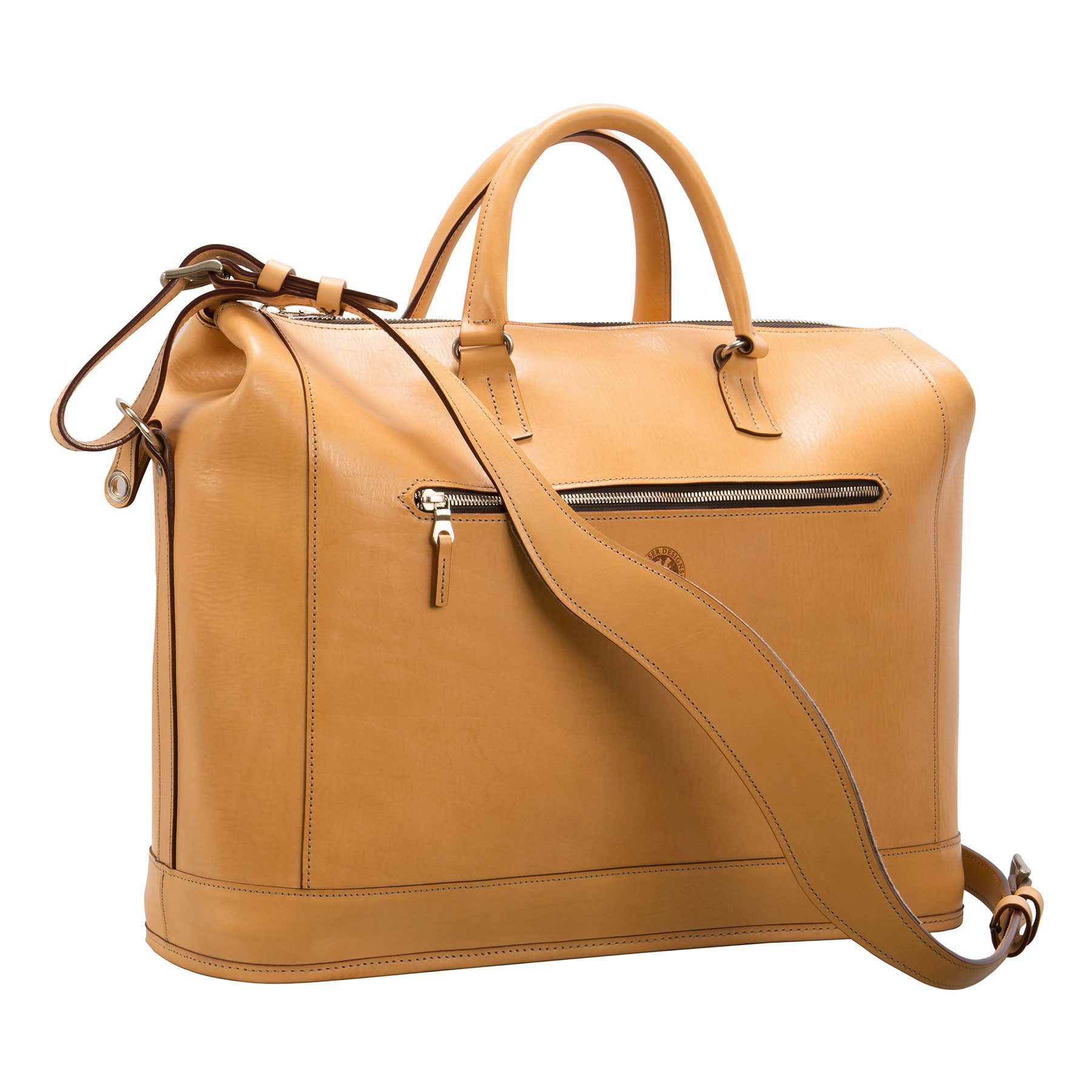 Pedestal Club Bag: hand-burnished leather