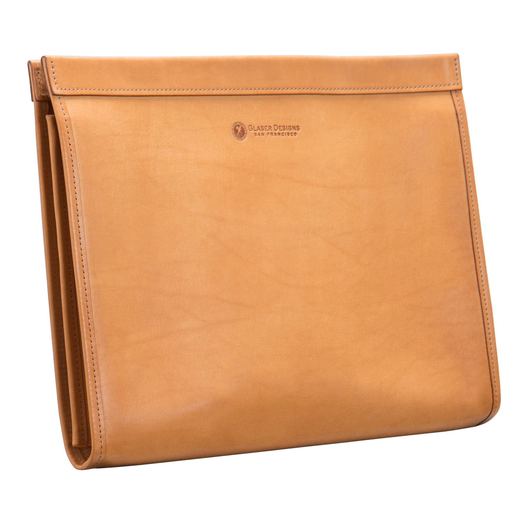 Leather Portfolio with Magnetic Closure: hand-burnished leather: