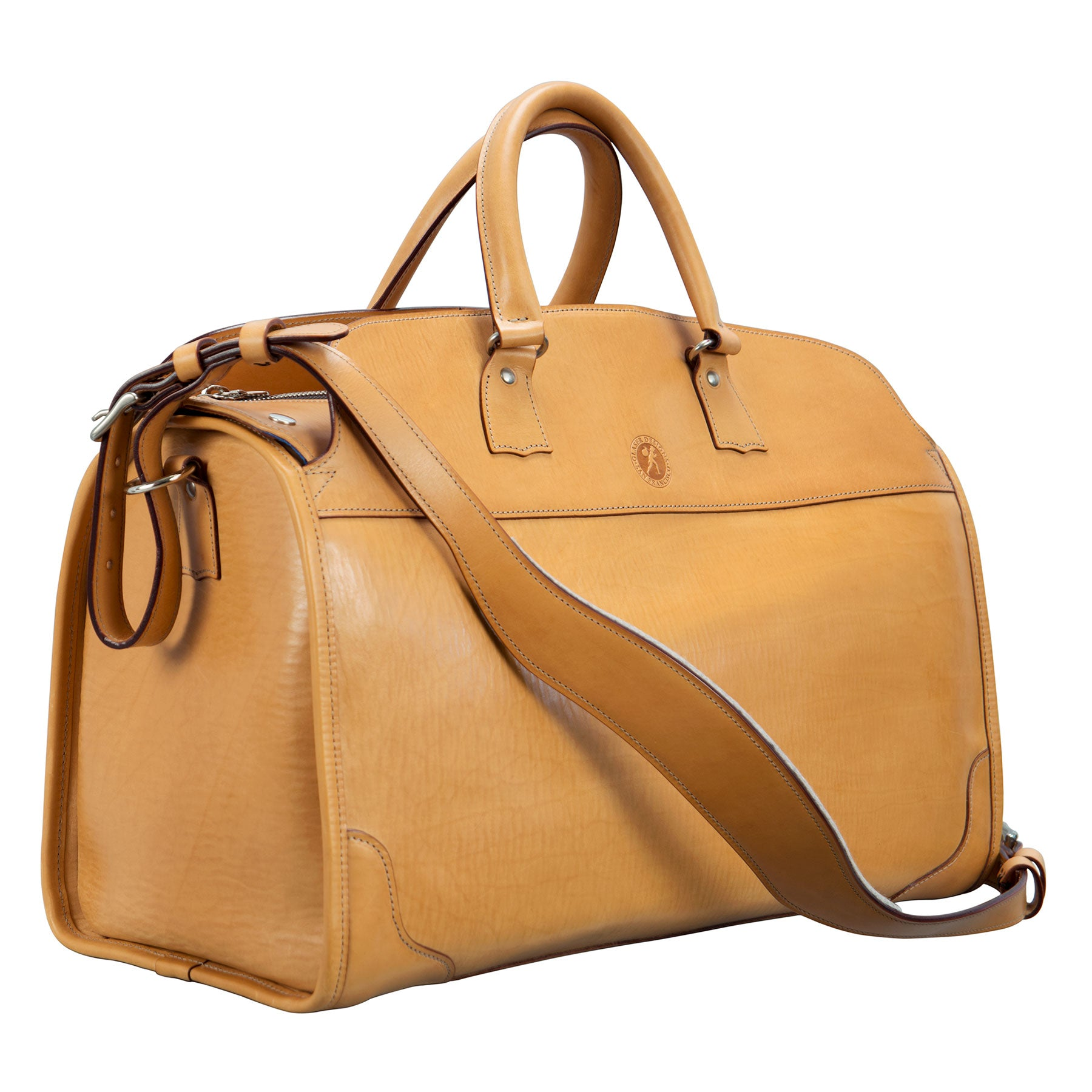 Stadium Bag: hand-burnished leather