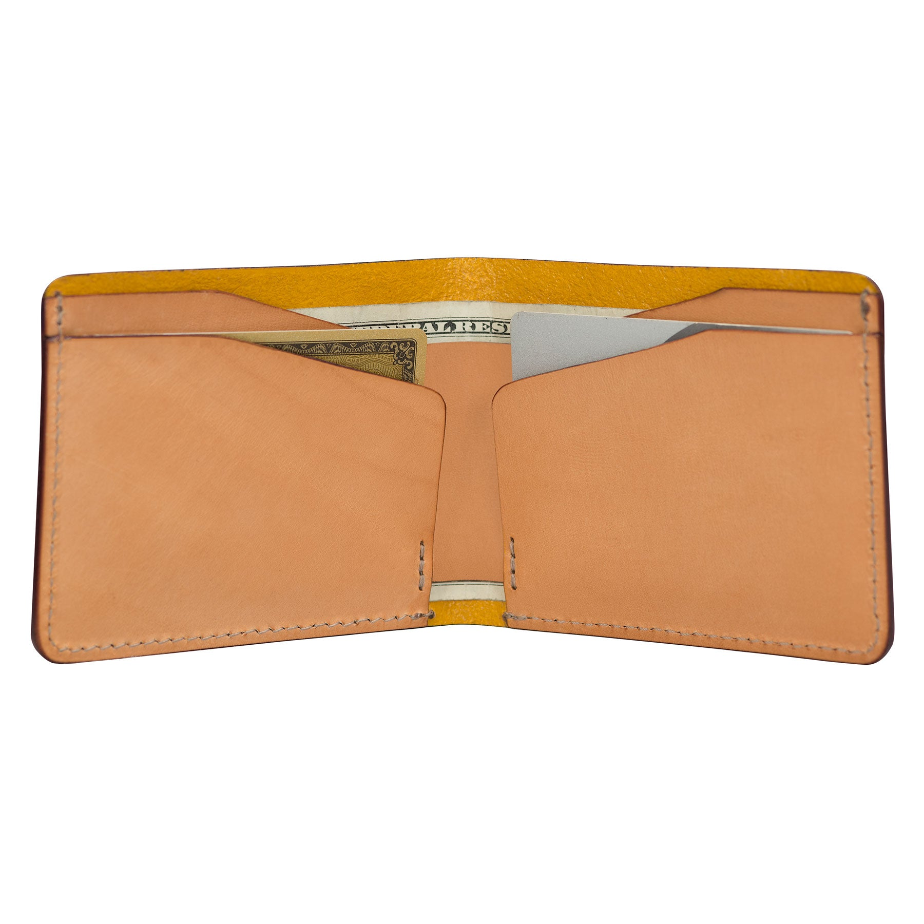 W Wallet: Hand-Burnished Leather
