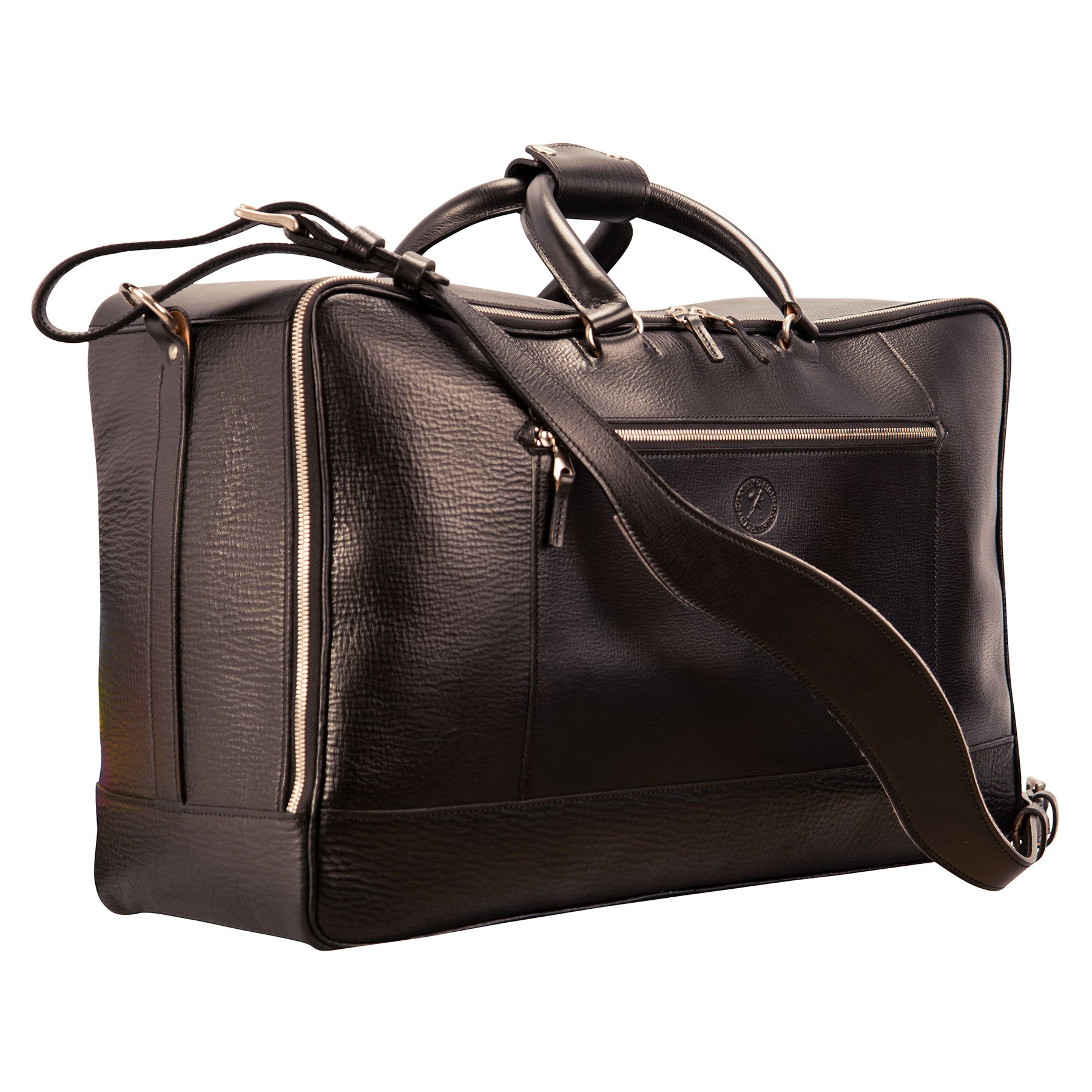 Square Duffel: hand-grained, hand-colored leather