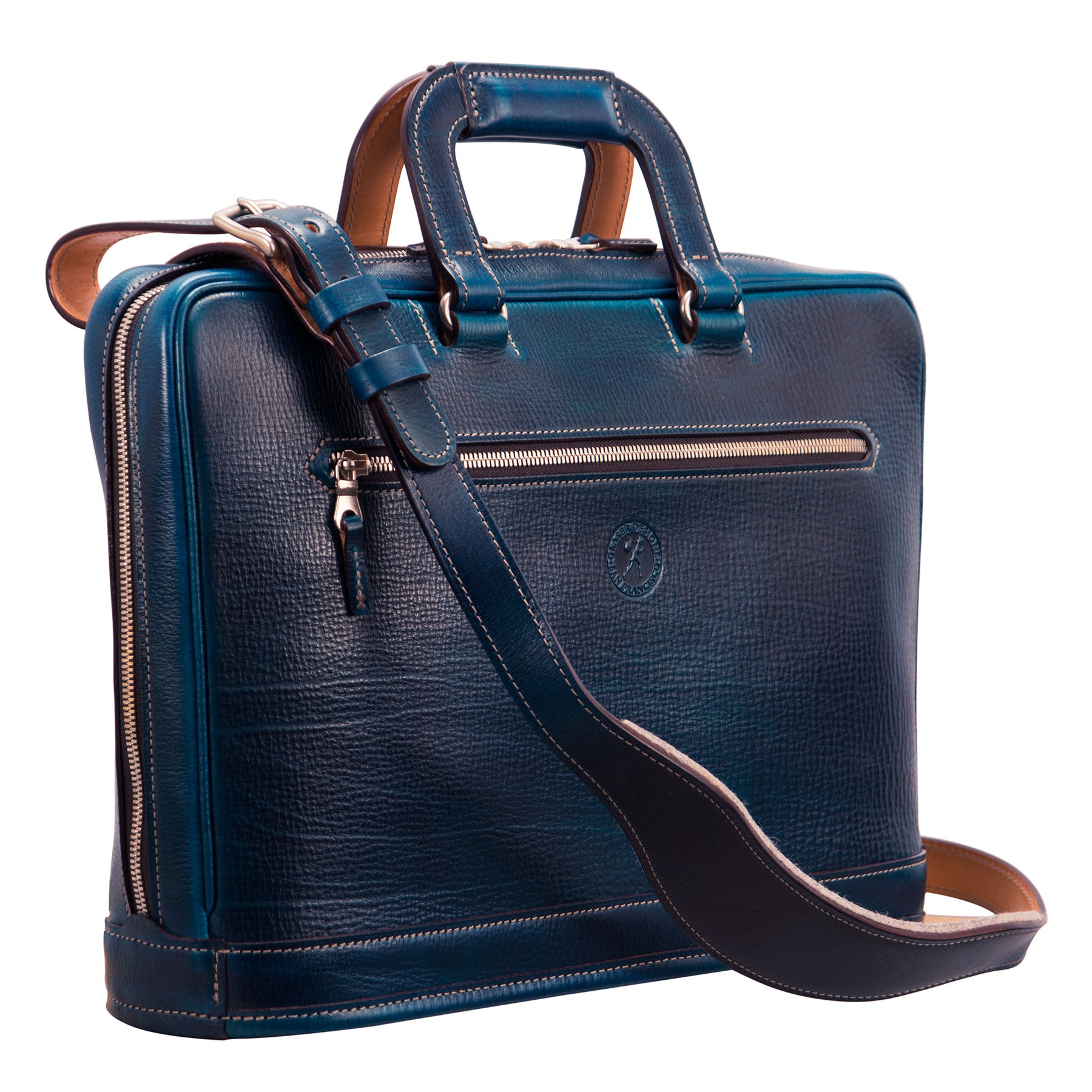 Platform Portfolio: hand-grained, hand-colored leather