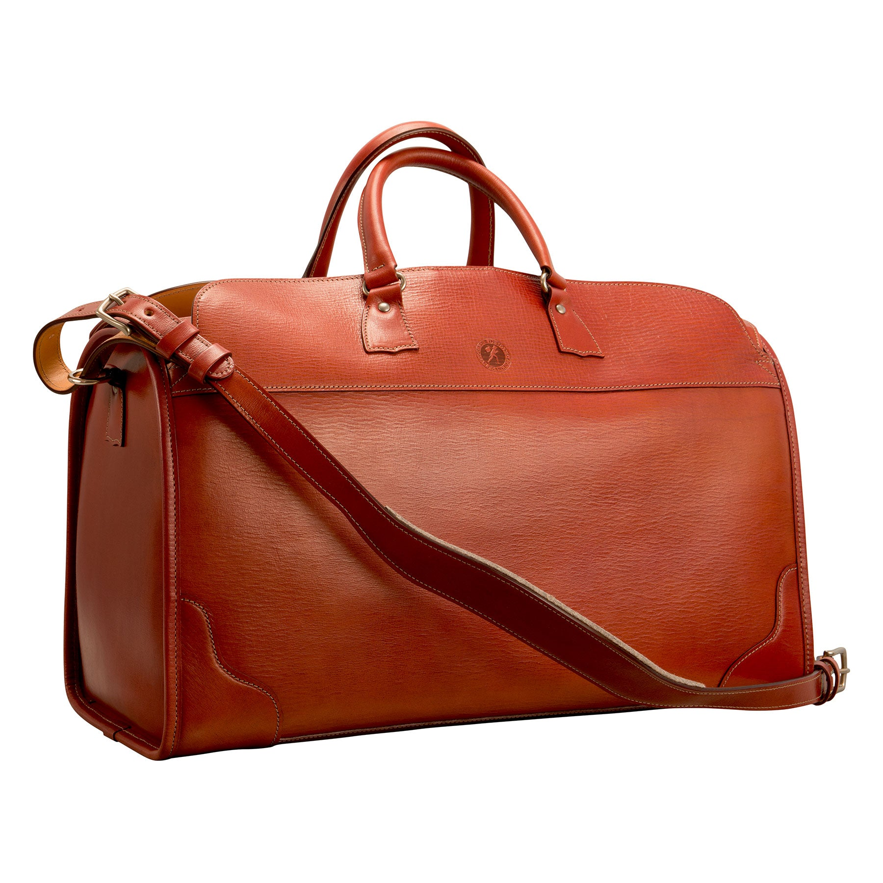 Stadium Bag: hand-grained, hand-colored leather