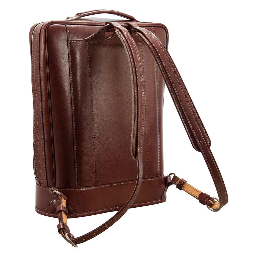Business Backpack: Hand-Grained, Hand-Colored Leather