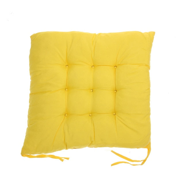 Coussin de sol confortable carré jaune Winter