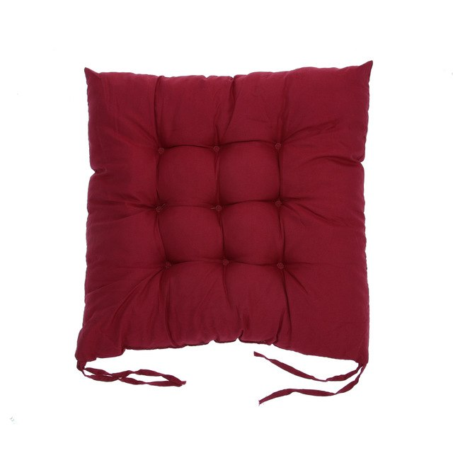 Coussin de sol confortable carré rouge Winter