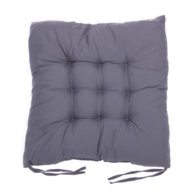 Coussin de sol confortable carré gris Winter