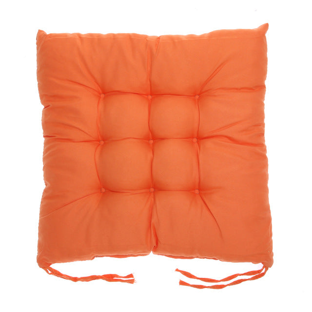 Coussin de sol confortable carré orange Winter