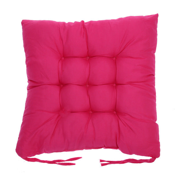 Coussin de sol confortable carré fuchsia Winter