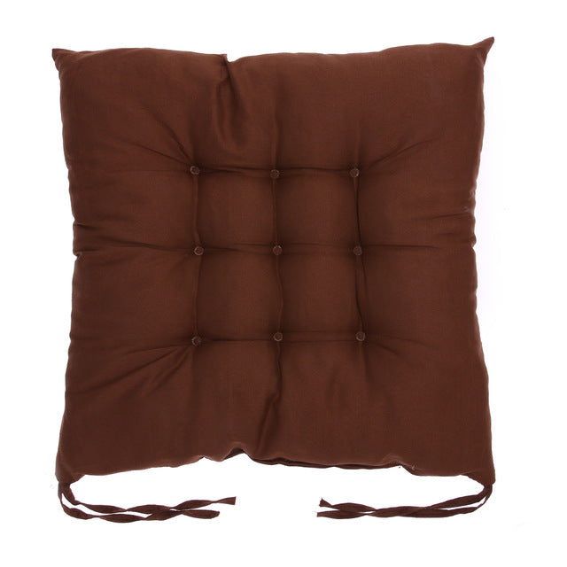 Coussin de sol confortable carré marron Winter