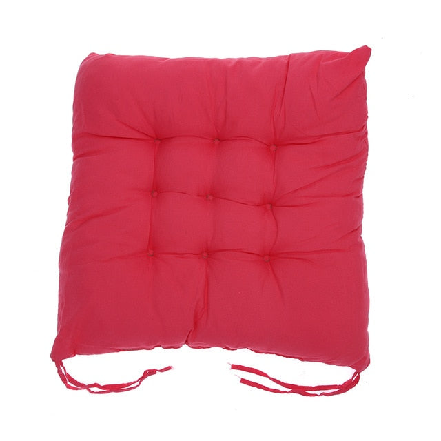 Coussin de sol confortable carré rose Winter