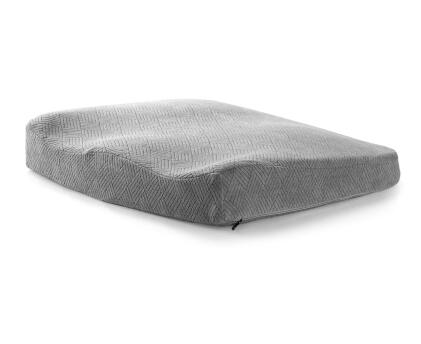 Coussin de chaise rectangulaire gris à mémoire de forme 42x38 Engineer