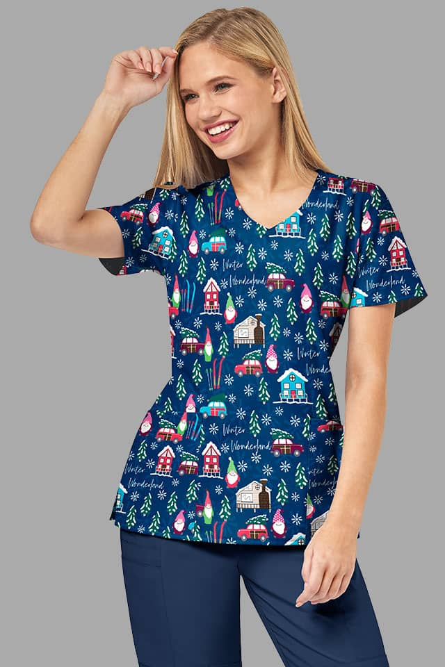 Christmas Scrubs Prints | Xmas Printed Nurses Scrubs Australia
