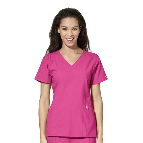 6155 Hot Pink Scrub Top Australia - Infectious Clothing Company