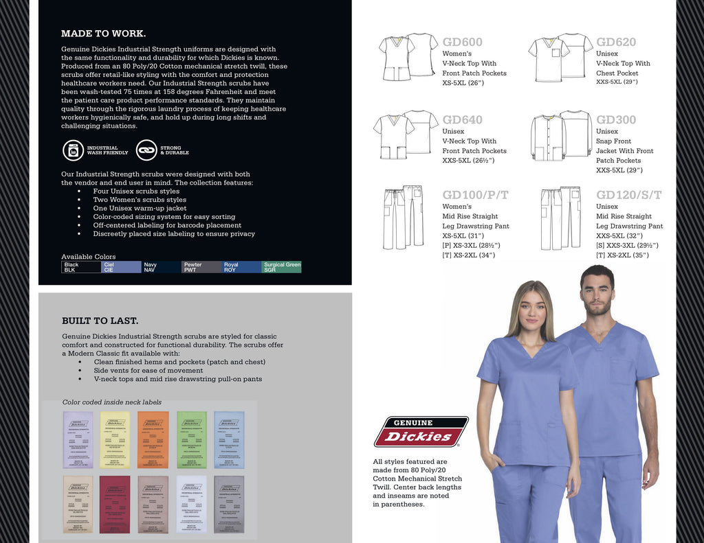 Dickies Industrial Strength Scrubs sold by Infectious Clothing Company Australia