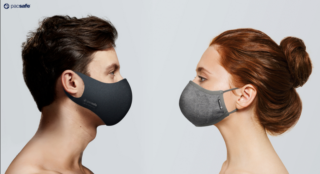 Pacsafe Reusable Face Masks Antimicrobial Technology